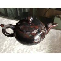 天然玉石桂林鸡血玉茶壶酒壶茶具保健玉石茶具