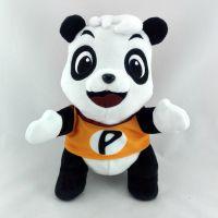 短毛绒熊猫公仔填充PP棉毛绒玩具工厂直销 来图打样定制LOGO