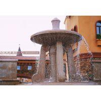 城市公园喷泉 花岗岩黄锈石水钵 石材水钵厂家