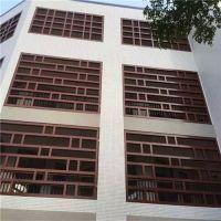 德普龙厂家定做中式仿古木纹铝窗花 铝屏风