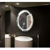 加工批发制订各式智能镜 LED防雾时间温度浴室镜 酒店公寓化妆镜