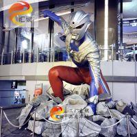 奥特曼玻璃钢雕塑美陈商场儿童节活动装饰游乐园吸引人流可定制