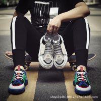 夏秋季男鞋韩版潮流拼色百搭男士运动休闲潮鞋透气跑步板鞋青少年