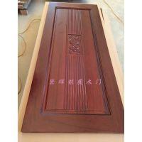 广东佛山木门厂供应胡桃木原木实木门 中式风格房间门 百分百纯实木 隔音性能较好的木门
