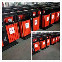 环卫钢木果皮箱 分类垃圾桶 双桶垃圾箱