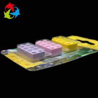 源头厂家生产供应文具吸塑包装 定制透明热压PET橡皮檫包装盒