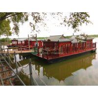 供应北京昌平画舫木船 水上游船 12米木船多少钱一艘