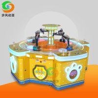 步风动漫大型四人游戏机 疯狂挖机电玩城儿童游乐设备