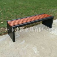 厂家供应定制景区公园椅 户外钢木座椅 步行街休息长椅