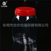 PET 2.4L塑料透明瓶 2.4kg包装方罐
