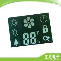 暖风扇lcd液晶显示屏 段码式暖风扇/冷风机LCD液晶显示屏