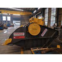 卡特320挖机挤压式破碎铲斗 挖机鄂破机 鄂式破碎铲斗工厂