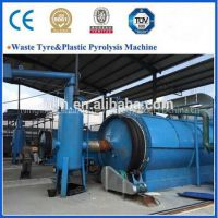 100% no pollution newest generation waste tyre pyrolysis machine