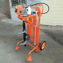 手扶汽油钻洞机 大直径冰面钻眼机 黑龙江汽油钻冰机价格