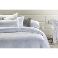 南通酒店布草厂家优质宾馆客房床上用品纯棉白色贡缎提花四件套80支