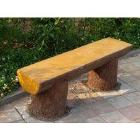 济宁供应水泥仿木户外座椅,仿木组合坐凳