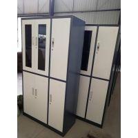 铁柜 重庆钢柜 现代 简约 四门 玻璃文件柜 重庆文件柜厂家直销