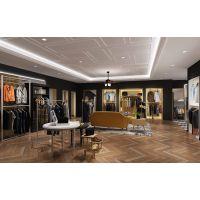 男装展柜展示柜 一站式设计服务 广州河盛展柜-男装店面空间方案.简欧风格