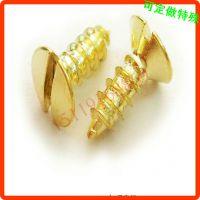一字槽铜螺钉 平头自攻铜螺丝 生产定做加工 佛山螺钉厂