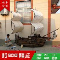木船 大型户外海盗船 帆船 景观装饰船 道具船 欧式木船 仿古船