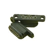 MICRO 5P 夹板型防水母座 180度立式两脚插座 带定位柱 PCB-创粤