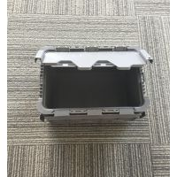 苏州滏瑞厂家供应灰色可堆式周转箱 EU43148翻盖箱