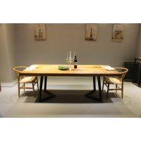 简约美式实木办公桌大型会议桌洽谈桌现代时尚大板桌电脑桌书桌