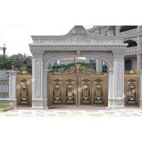金豪尚别墅铸铝门、铝艺别墅大门、铝艺豪宅别墅庭院门