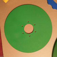 圆盘切片 供应锰钢缺口耙片 扇形波纹平盘犁片 通用配件犁耙片