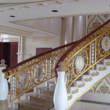 郑州高端订制别墅铝艺楼梯 铝板雕刻护栏