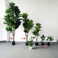 仿真绿色植物 青叶榕盆栽 居家阳台办公装饰 设计师推荐