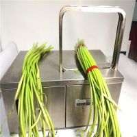 自动绑菜机价格 效率快蔬菜扎把机型号 蒜苔捆扎机批发 鲁强机械