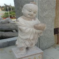 直销供应花岗岩招财进宝小和尚童子园林景观石雕工艺品装饰摆件