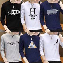 几块钱的服装批发韩版男装长袖T恤亏本清仓