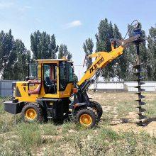 水泥杆挖坑机 线杆钻孔机, 装载机钻坑机 电线杆钻坑机 洪涛电力厂家直销