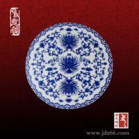 专业定制茶楼圆形陶瓷桌面厂家,简洁手绘陶瓷桌面