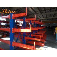 伸缩式悬臂货架南京生产厂 存放长板材的悬臂式货架定做