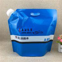 供应5L自立壶嘴袋 透明材质液体吸嘴袋 嘉宝莉油漆防水涂料塑料包装袋