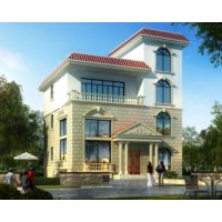 AT1615农村四层住宅别墅建筑图纸12mx12.6m萍乡房屋设计