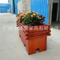成品木质花箱 济南户外木质花箱 深圳防腐木花箱