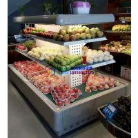 进口水果店展示柜,成都净菜风幕柜生产厂家,徽点四角开放环形岛柜