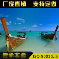 兴化木船龙头企业供应欧式木船观光船手划船出售定制客船