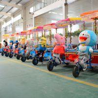 小洋人机器人拉车 毛绒电动车动物拉车 亲子毛绒动物电动三轮车