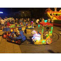 厂家直销轨道火车 广场电动摇摆机火车 游乐设施商用儿童小火车