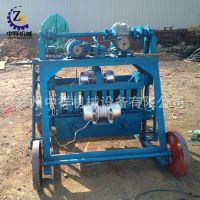 供应加工空心砖、水泥砖机械设备 小型4-35半自动砌块成型制砖机