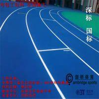 塑胶跑道工程 全塑型塑胶跑道工程 全塑型自结纹塑胶跑道材料剑桥体育厂家直销