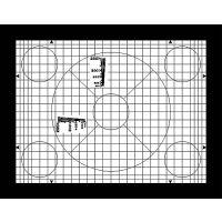 ITE径向分辨率测试图卡 带楔形条纹圆
