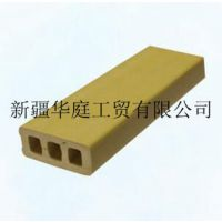 新疆塑木型材 华庭塑木型材工艺先进 昌吉户外地板生产厂家
