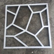 木纹中式铝花格 古典酒店铝合金漏窗