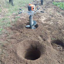 手提式汽油打洞机 树木种植挖坑机 拖拉机带果树打坑机